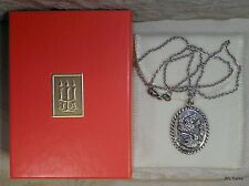 RARE RETIRED JAMES AVERY STERLING 2 TURTLE DOVES PENDANT & NECKLACE W/ AVERY BOX