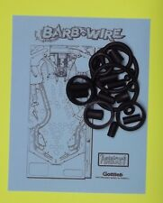 1996 Gottlieb Barb Wire pinball rubber ring kit