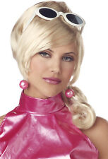 Sexy N Sassy Bonde Wig Paris Hilton 60s retro Fembot New Fancy Dress