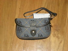 DOONEY AND BOURKE BLUE DENIM SIGNATURE FLAP WRISTLET ORG. $40.00 BNWT