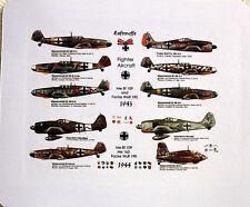 Messerschmitt Me Bf 109,Focke Wulf 190, Me163 ~1943 to 1944~  MOUSE MAT PAD