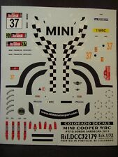DECALS 1/32 MINI COOPER WRC #37 D.SORDO SARDAIGNE 2011   - COLORADO  32179