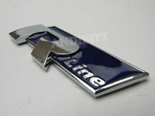 BLUE CHROME R LINE CAR BADGE AUDI A4 A2 A3 A6 RS4 RS6 A8 S4 S6 S8 S R ALLROAD