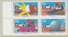 CHILE :1996 Centenary of National Olympic Committee SG 1726-9 MNH block