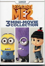 New DESPICABLE ME 2  3 MINI-MOVIE COLLECTION DVD
