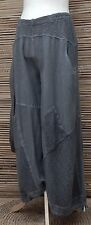 LAGENLOOK*KEKOO*OVERSIZE COTTON QUIRKY HAREM TROUSERS/PANTS*GREY*Size 50-52