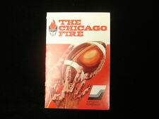 1974 The Chicago Fire WFL Schedule