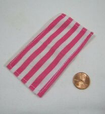 FISHER PRICE Loving Family Dollhouse PINK WHITE STRIPED POOL BEACH TOWEL Bath