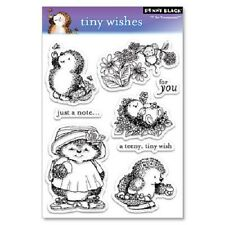 PENNY BLACK RUBBER STAMPS CLEAR HEDGEHOG TINY WISHES STAMP SET 2009