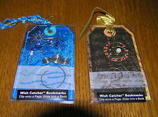 Estate Lot of 2 Wish Catcher Beaded Treble Clef & Diving Dolphin Bookmarks -