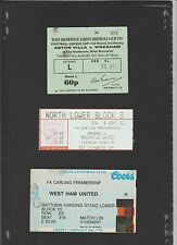 Match ticket stub for CHELSEA vs WEST HAM