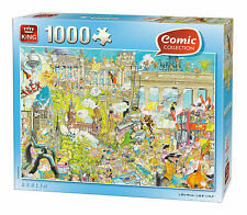 NEW! King Berlin by Gerold Como 1000 piece comic cartoon jigsaw puzzle