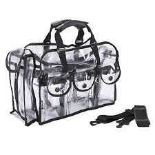 MUA LIMITED Makeup Artist Storage Bag Clear Cosmetic Bag with Side Pockets an...