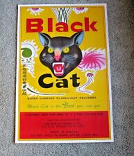 ORIGINAL VINTAGE BLACK CAT FIRECRACKER POSTER ~ SUPER CHARGED  DULUTH,MINNESOTA