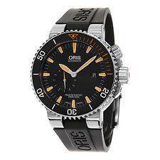 Oris Aquis Carlos Coste Black Rubber Strap Automatic Men's Watch 74377097184RS
