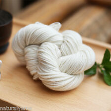2 piece /lot(55g/piece)  100% cashmere aran weight yarn color nat white