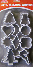 NEW 10PC BISCUITS MOULDS COOKIE CUTTER PASTRY BAKING CAKE MOULD COOKIES CUTTERS