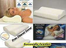 2x CONTOUR MEMORY FOAM PILLOW ORTHOPAEDIC FIRM HEAD NECK BACK SUPPORT PILLOWS