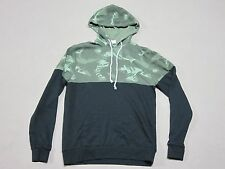 ALTERNATIVE APPAREL MENS BLACK PAINTBRUSH CAMO PULLOVER HOODIE SIZE MEDIUM NEW