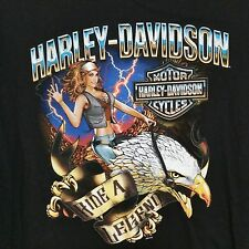 Harley Davidson Ride A Legend Cherokee NC Graphic T Shirt 3XL