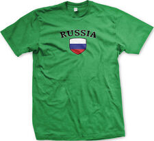 Russia Flag Crest Russian Ruskie National Soccer Football Pride Mens T-shirt