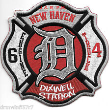 "New Haven Engine-6 / Truck-4, CT ""Dixwell Station"" (4.5"" x 4.5"" size) fire patch"