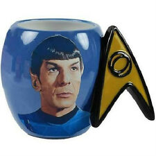 STAR TREK SPOCK DELTA SHIELD COFFEE DRINKING MUG LEONARD NIMOY - NEW!