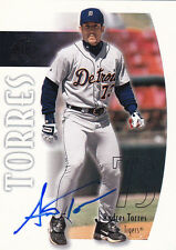 ANDRES TORRES DETROIT TIGERS SIGNED CARD SAN FRANCISCO GIANTS BOSTON RED SOX