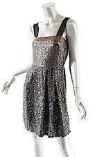 REISS Gunmetal 100% Polyester Sequins Encrusted Dress w/Strap-FAB! NWT - UK6/US2
