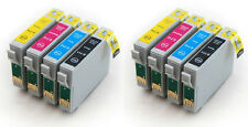 8 Non-OEM Ink Cartridges T0715 for Epson Stylus SX210 SX100 SX105 SX400 SX405