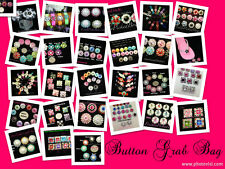 Acrylic Button Grab Bag 50pc mix colors and sizes FREE SHIPPING