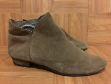 $295❤️ Joie Morrison Suede Ankle Boots Taupe Slip On Hipster Boho Sz 38.5 8.5