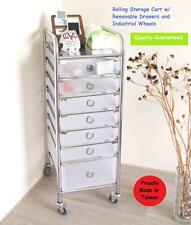 Rolling Storage Cart Removable Drawer Salon Spa Stylist Station Trolley Stand