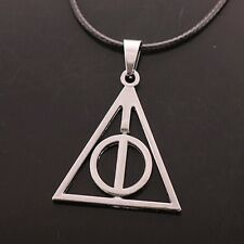 A Sliver Tone Harry Potter The Deathly Hallows Charm Pendant Chain Necklace HOT!