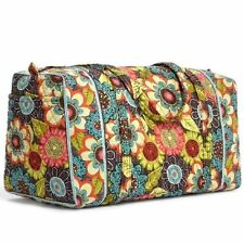 NWT Vera Bradley FLOWER SHOWER Small DUFFEL Tote Gym Bag Overnight Carryon