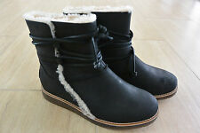 NEW UGG Women's Luisa Leather Boots in Black Size 7