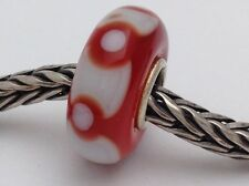 Authentic Trollbeads Ooak Universal Unique 144 Murano Glass Bead Charm Fits All