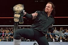 THE UNDERTAKER 8X10 PHOTO WRESTLING PICTURE WWE WITH BELT WWF WWE
