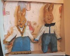 WOODEN RABBITS CARVED BY J.NORMAN HOLLAR - LOCAL ARTIST - CHAMBERSBURG, PA.
