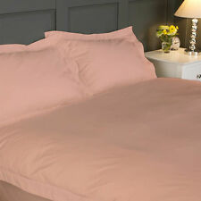 1000 THREAD COUNT 100% EGYPTIAN COTTON QUEEN PEACH SOLID BED SHEET SET
