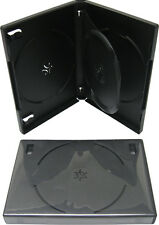 (1) DV3R22WTBK Triple Three Disc 3 DVD Box Case Black Multi 22MM With Tray NEW
