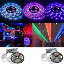 2x5m 10m 3528 SMD 600 LED Lichterkette Lichtleiste Stripe RGB + 44 Fernbedienung