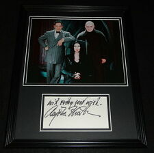 Anjelica Huston Signed Framed 11x14 Photo Display The Addams Family D