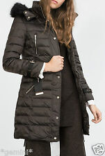 ZARA M DAUNEN MANTEL JACKE FEATHER DOWN LONG PADDED COAT JACKET PUFFER ANORAK