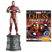Marvel Ajedrez Estatuilla Collection Magazine # 2-Iron Man / Blanco Obispo #mcc 2