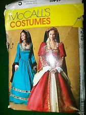 MCCALL'S COSTUMES P245 WOMAN'S TUDOR OUTFIT