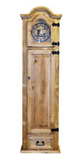 Grandfather Clock with Hidden Lockable Gun Cabinet Safe Real Wood Rustic Cabin