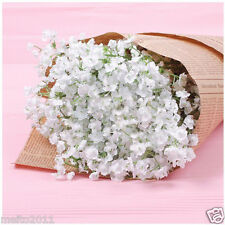 6X Artificial Silk Flowers White Gypsophila Bouquet Wedding Home Decoration Xmas