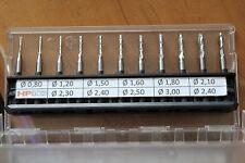 10 St. VHM Fräser spiralverzahnt / 2 Schneider - Wählbar 0.80mm bis 3,0mm +Bonus