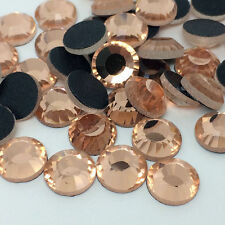 100pcs 10mm SS50 Peach DMC Iron On Hot Fix Crystal Rhinestones